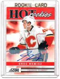 2011 Score Signatures Greg Nemisz Rookie Card #503 - Calgary Flames