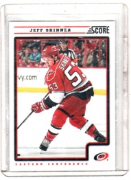 2012 Score  Jeff Skinner  Card #106 - Carolina Hurricanes