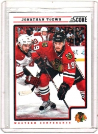 2012 Score  Jonathan Toews  Card #116 - Chicago Blackhawks