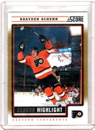 2012 Score Gold Rush Brayden Schenn  Card #9 - Philadelphia Flyers