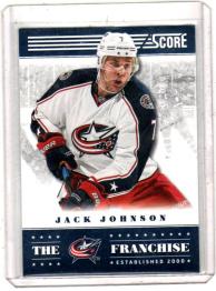 2013 Score Franchise Jack Johnson  Card #TF-8 - Columbus Blue Jackets