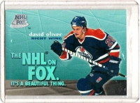1995 Skybox Impact NHL on Fox David Oliver  Card #3 - Edmonton Oilers