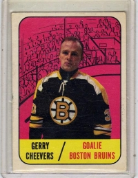 1967 Topps  Gerry Cheevers  Card #99 - Boston Bruins