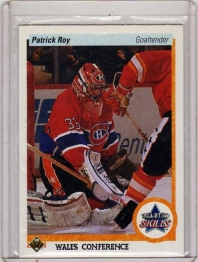1990 Upper Deck Patrick Roy Card #496 - Wales Conference