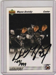 1991 Upper Deck  Wayne Gretzky Autographed  Card #437 - Los Angeles Kings
