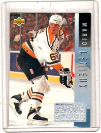 1993 Upper Deck Program of Excellence Mario Lemieux  Card #E13 - Pittsburgh Penguins