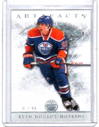 2012 Upper Deck Artifacts Ryan Nugent-Hopkins  Card #84 - Edmonton Oilers