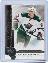 2016 Upper Deck Artifacts Nino Niederreiter  Card #82 - Minnesota Wild